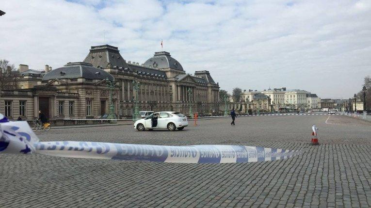 Ситуация возле королевского дворца в Брюсселе