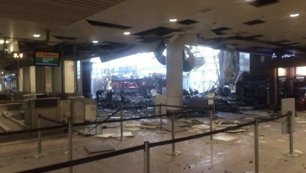 Последствия теракта в аэропорту Брюсселя