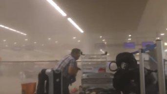 Кадры, снятые сразу же после взрыва в аэропорту Брюсселя. Видео