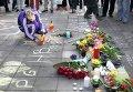 Импровизированный мемориал жертвам террористических атак 22 марта 2016 года в Брюсселе