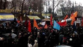 Митинг чернобыльцев под Кабмином. Видео