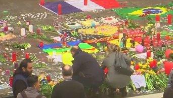 Траур в Брюсселе после терактов. Видео