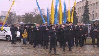 Патрульные полицейские Борисполя присягнули на верность украинскому народу