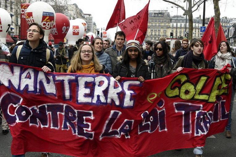 Image result for протестах против нового трудового законодательства франция