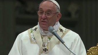 Папа Римский Франциск поздравил католиков с праздником Пасхи. Видео