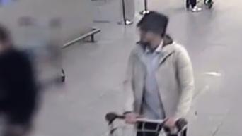 Обнародованы кадры с третьим подозреваемым в совершении терактов в Брюсселе. Видео
