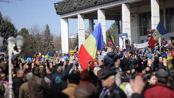 Митинг в Кишиневе 27 марта 2016 года