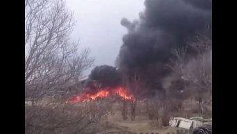 Военный самолет Су-25 упал в Приморье. Видео