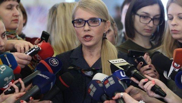 Брифинг Юлии Тимошенко в кулуарах Верховной Рады