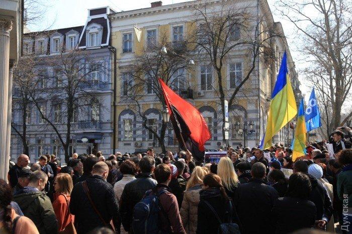 ВОдессе прошли митинги против Стоянова ивподдержку Сакварелидзе