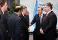 Генсек ООН Пан Ги Мун и президент Украины Петр Порошенко
