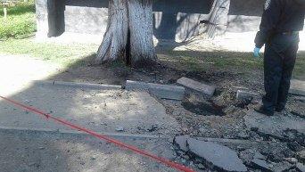 Кадры с места подземного взрыва во Львове
