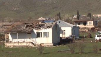 Видео из зоны боев в Карабахе