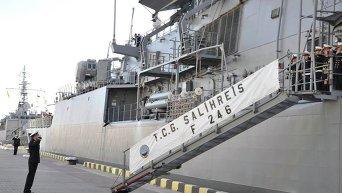 Визит турецких военных кораблей в Одессу