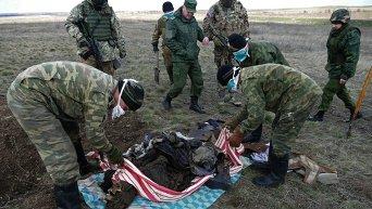 Массовое захоронение бойцов ВСУ обнаружено под Дебальцево