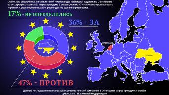 Референдум в Нидерландах об ассоциации Украины и ЕС - соцопрос. Инфографика