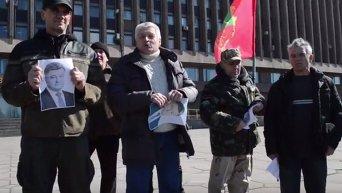 Портреты Порошенко в Запорожье. Видео