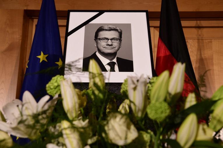 Пощание с экс-министром иностранных дел Германии Гидо Вестервелле