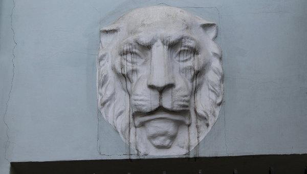 Барельефные львы на стенах здания прокуратуры Харькова. Архивное фото