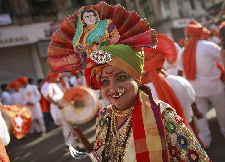 Торжества по случаю фестиваля Гуди-Падва в Мумбаи