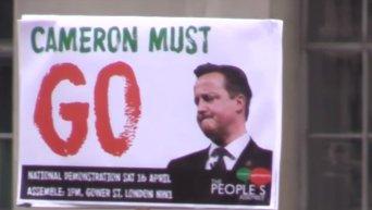 Тысячи демонстрантов в Лондоне требовали отставки Кэмерона. Видео
