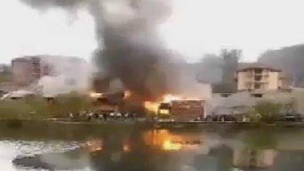 Пожар в отеле в Закарпатской области