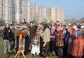 Община УПЦ в Сумах заложила сквер в честь бойца, погибшего в Славянске