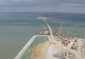 Возведена первая опора Керченского моста. Кадры с места строительства. Видео