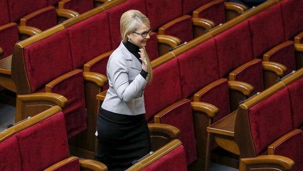 Юлия Тимошенко в Верховной Раде. Архивное фото