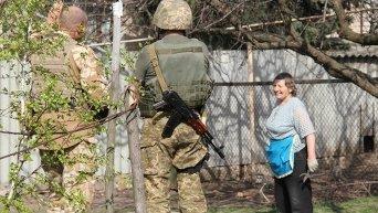 Патрулирование миссии ОБСЕ на линии разграничения в Донбассе