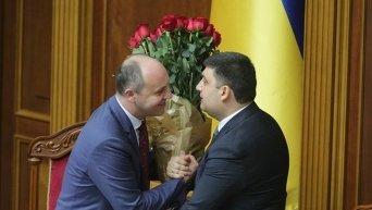 Андрей Парубий и Владимир Гройсман