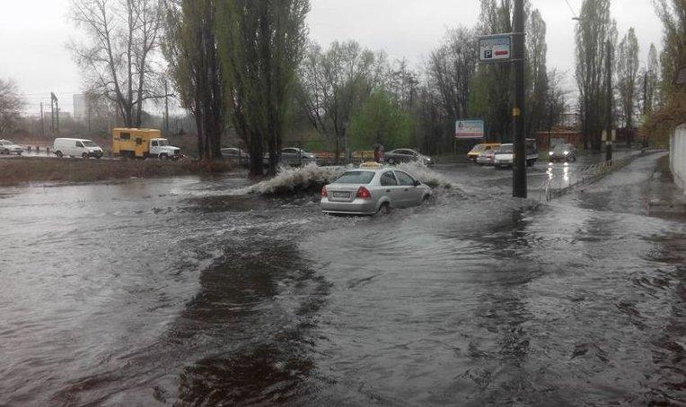 Разлив реки в Киеве