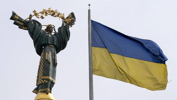 Флаг Украины и Монумент независимости