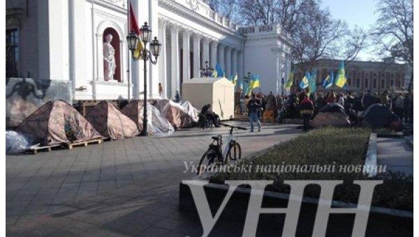 В Одессе активисты требуют увольнения Труханова