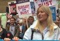 Многотысячные протесты в Лондоне. Видео