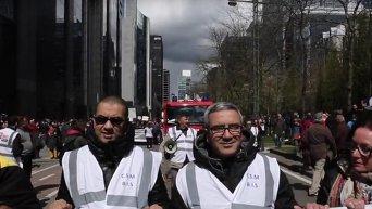 Тысячи людей в Брюсселе вышли на марш против терроризма. Видео