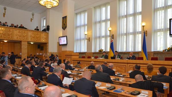 Закарпатский областной совет. Архивное фото