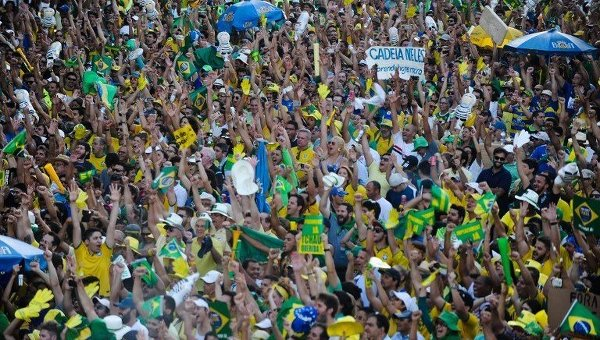 Акции протеста в Бразилии. Архивное фото