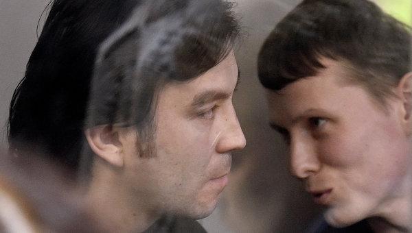 Оглашение приговора россиянам Ерофееву и Александрову (слева направо)