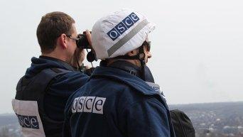 Сотрудники ОБСЕ в Авдеевке. Архивное фото
