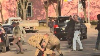 Столкновения в Харькове после форума Оппозиционного блока. Видео