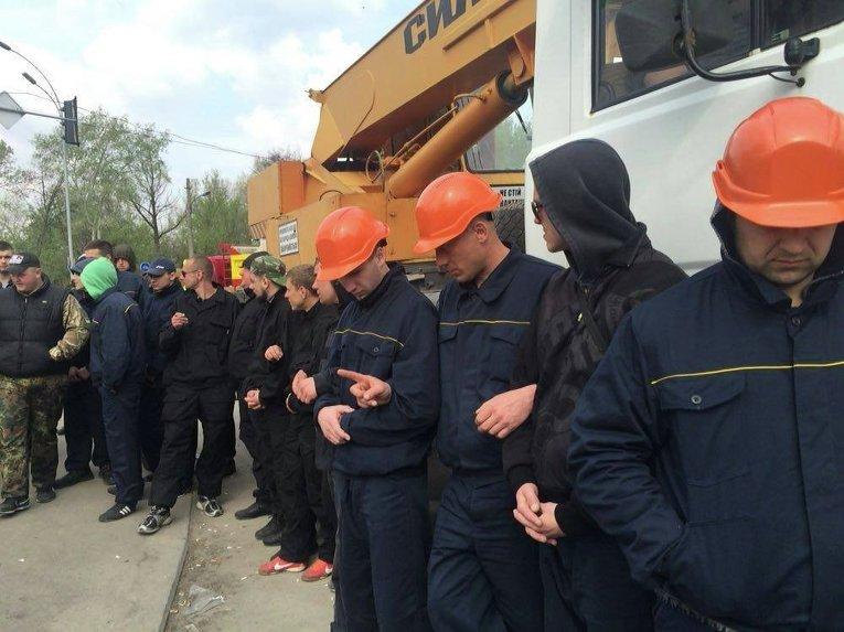 Конфликт на месте застройки по улице Здолбуновской в Киеве