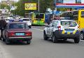 На месте смертельного ДТП с участием патрульного автомобиля в Киеве