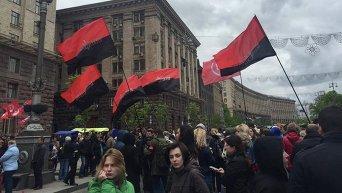 Протест МАФовиков и Правого сектора под стенами КГГА