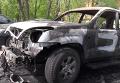 В Харькове сожгли Toyota Prado экс-депутата горсовета: кадры с места ЧП. Видео