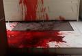 Активисты облили красной краской офис телеканала Украина. Видео