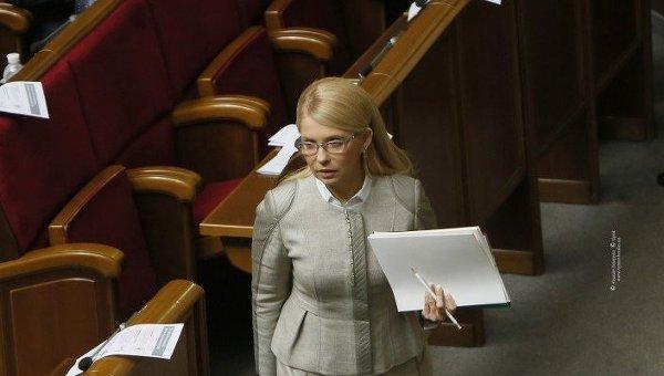 Лидер Батькивщины Юлия Тимошенко. Архивное фото