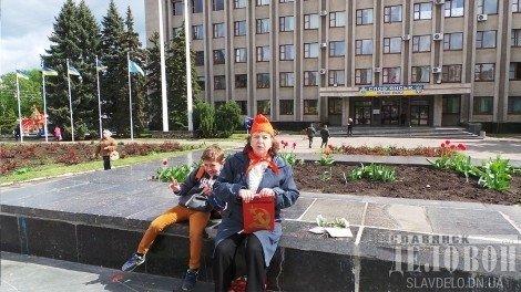 Празднование день рождения Ленина на оккупированных территориях