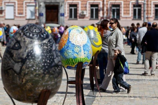 В Киеве открылся Пасхальный городок