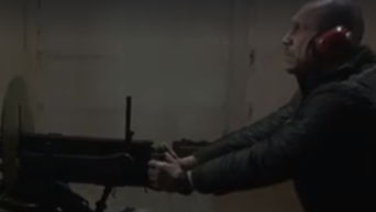 Появилось видео стрельбы Кивы из пулемета